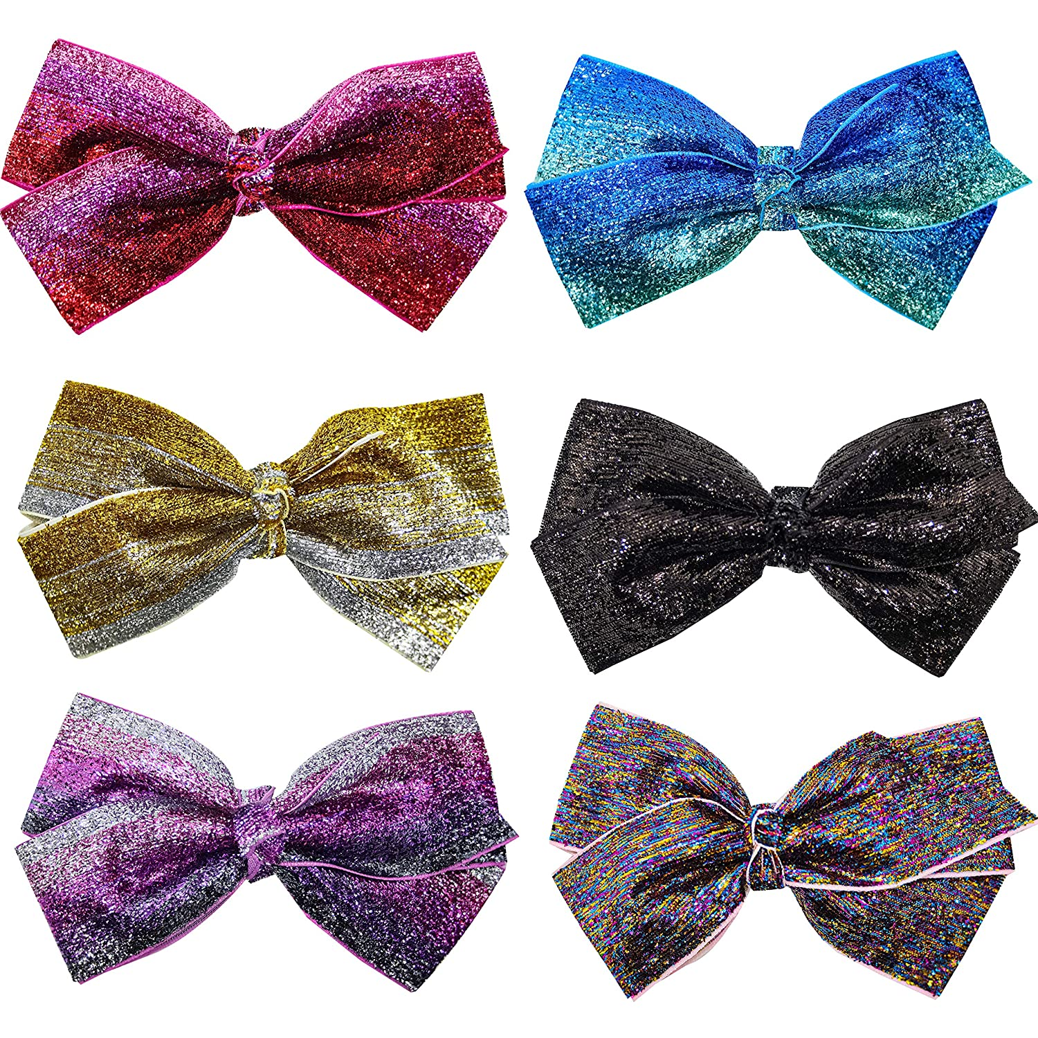 FROG SAC 6 Glitter Hair Bows for For Bow Cute Sparkly Girls Max 1 year warranty 58% OFF Kid