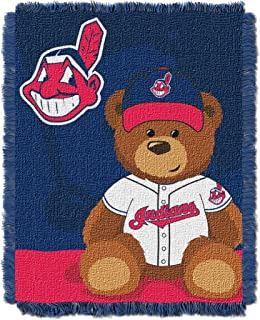 Officially Licensed MLB Field Bear Baby Woven Jacquard Throw Blanket, Soft & Cozy, Washable, Throws & Bedding, 36