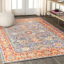 """JONATHAN Y MDP302A Irving Persian Plum/Terracotta 5'3"""" x 7'7"""" Area Rug"""