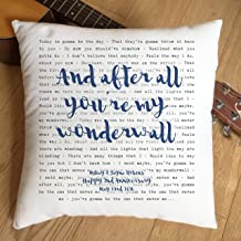 Just Print! Oasis, Wonderwall, TYPOGRAPHY DESIGN Song Lyrics Inspired Gift - Pillow Cushion Cover - Ideal Cotton 2nd Anniversary