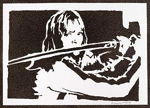 Poster Kill Bill Beatrix Kiddo Grafiti Hecho a Mano - Handmade Street Art - Artwork