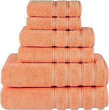 American Soft Linen 6-Piece 100% Turkish Genuine Cotton Premium & Luxury Towel Set for Bathroom & Kitchen, 2 Bath Towels, ...