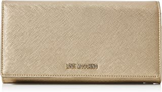 محفظة يد جلدية صغيرة ومريحة للسيدات من لوف موسكينو لون ذهبي، مقاس موحد