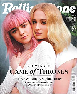 Rolling Stone Magazine April 2019 GAME of THRONES MAISE WILLIAMS & SOPHIE TURNER Cover, The Pentagon Money Pit, The Tragedy of Li'l Peep