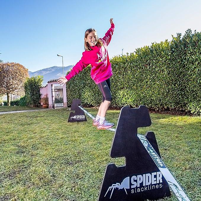 SPIDER SLACKLINE SIS06 - Set 2X Caballete de Madera Soporte de Altura 3  Slackline 30 o 50 o 70 cm - Slacklining Soporte para Interiores y  Exteriores: Amazon.es: Deportes y aire libre