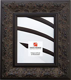 Craig Frames 9471 8 by 12-Inch Picture Frame, Ornate Finish, 3.5-Inch Wide, Aged Black and Red