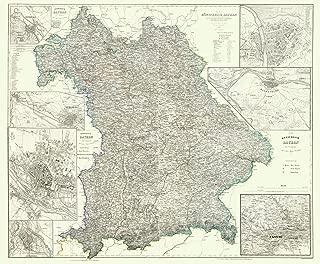 MAPS OF THE PAST Germany Bavaria Regensburg Regions - Radefeld 1860-23 x 27 - Matte Canvas