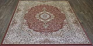 Rose Persian Area Rug Design 3695 100% Polypropylene Tabriz Collection Exact Size 5'4