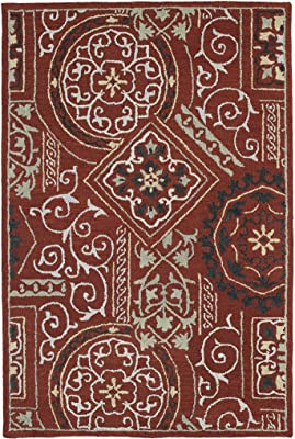 Brooklyn Collection Hand Tufted Red Rug (76
