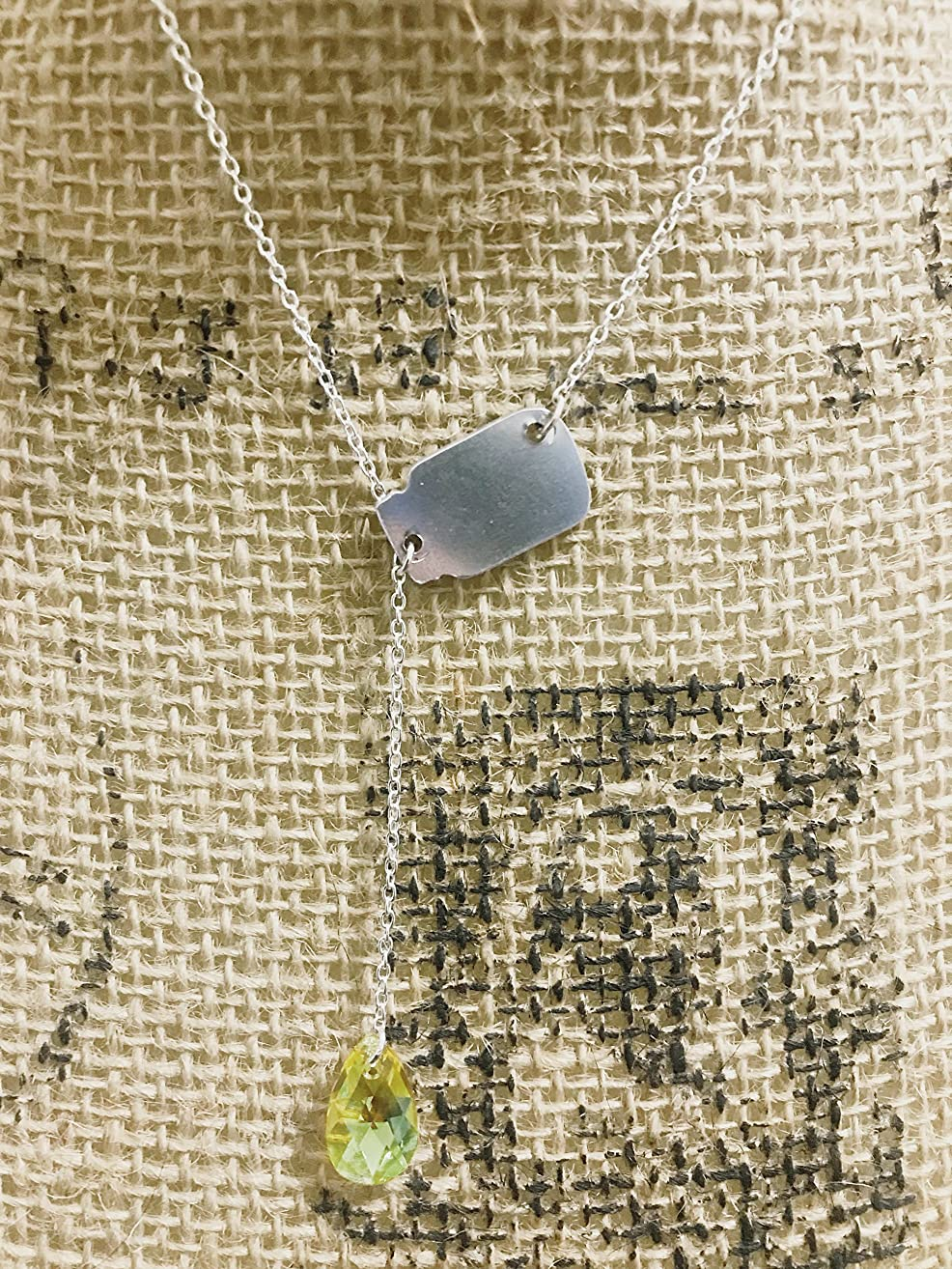 Essential oil Crystal Drop Necklace