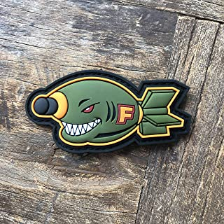 NEO Tactical Gear - F Bomb PVC Rubber Tactical Morale Patch - Hook Backed with Loop Fastener Backing Attachment