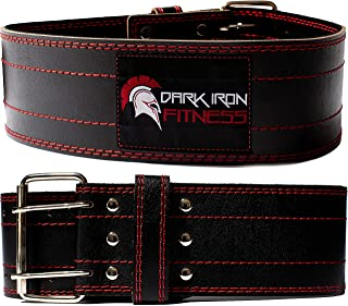 Dark Iron Fitness Genuine Leather Pro Weight Lifting Belt...