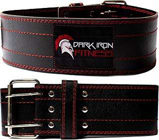 Dark Iron Fitness Genuine Leather Pro Weight Lifting Belt...
