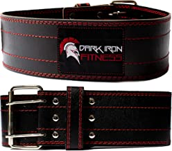 Dark Iron Fitness Genuine Leather Pro Weight Lifting Belt for Men and Women –..