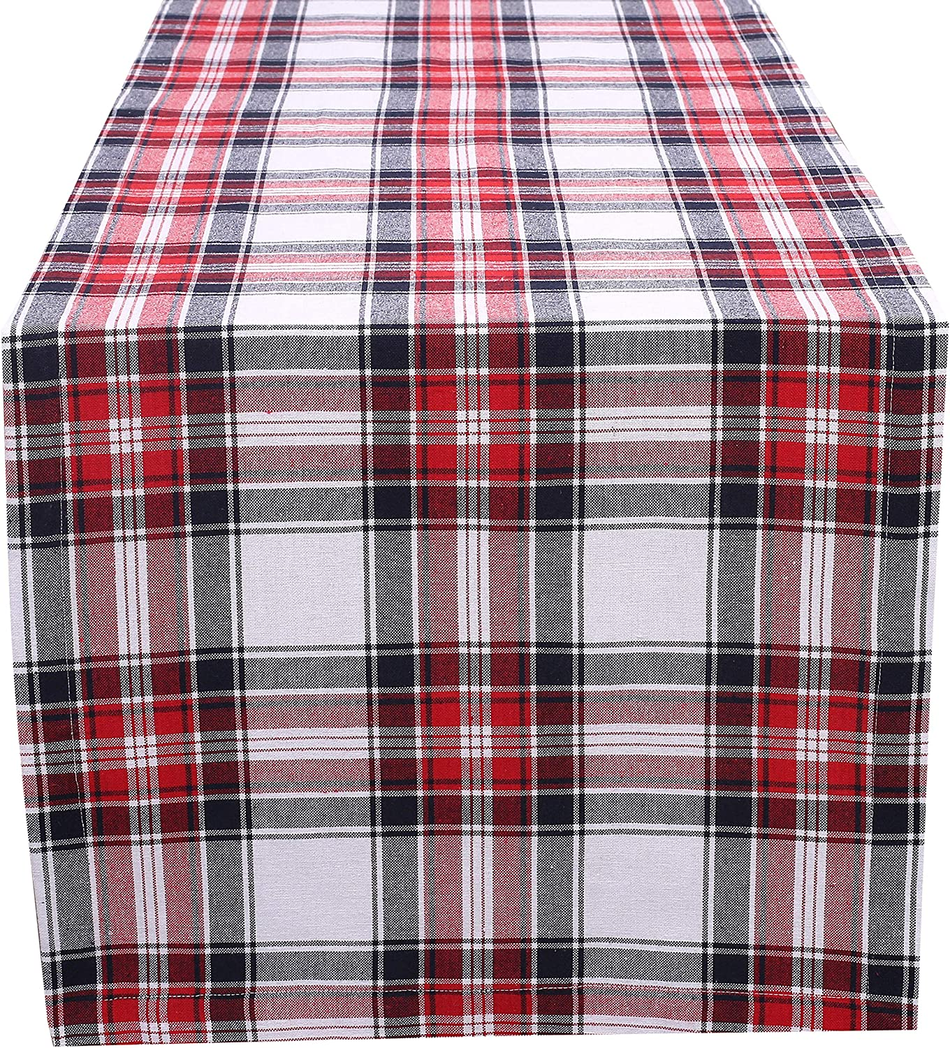 100 Cotton Classic Check Plaid Table Runner 16 X108 With Mitered Corners Generous Hem Teal Amazon Ca Home Kitchen