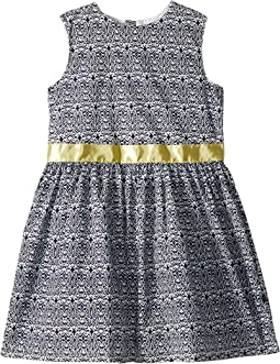 Navy and Yellow Garden Party Dress (Toddler/Little Kids/Big Kids)