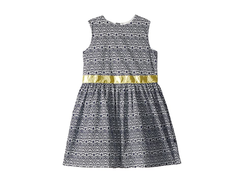 Toobydoo Navy and Yellow Garden Party Dress (Toddler/Little Kids/Big Kids) (Navy/Yellow) Girl