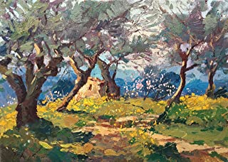 243e024ea9f Olive Trees Painting - Original Tuscan Country Landscape - Impressionist  Hand Painted Field - Framed Canvas Wall Art - Unique Gift for Men Woman -  Home ...