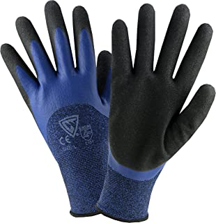 West Chester 713BLDD S Double Dipped Glove, Small, Blue Black (Pack of 12)