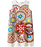 Dolce & Gabbana Kids - Mambo Brocade Dress (Big Kids)