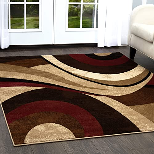 Red and Brown Rug: Amazon.com