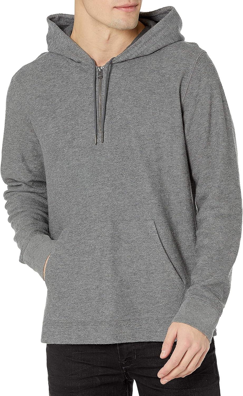 Vince Men's Textured Quarter Zip Hoodie