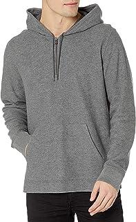 Men's Textured Quarter Zip Hoodie