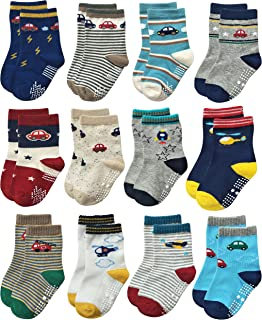 RB-71112 Non Skid Anti Slip Crew Socks With Grips For...