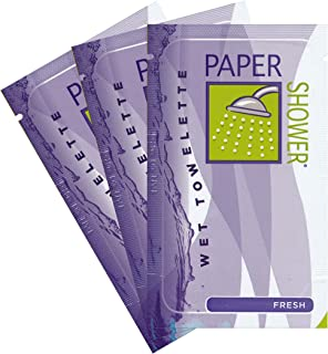 Paper Shower - Fresh - Body Wipe Company - Wet towelette - On the go shower body wipe for all ages - Body cleaning towelettes - 10 Individual Packs