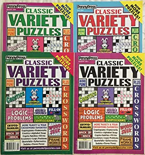 Lot of (4) Penny Press Classic Variety Puzzles Word Games Puzzle Book 2009 2010 2011