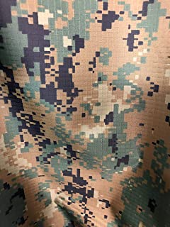 USMC MARPAT WOODLAND FABRIC CAMO 1.35 OZ NYLON RIPSTOP 30D