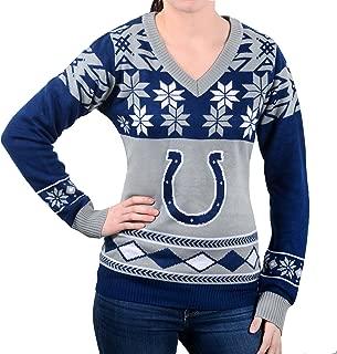 NFL Women's V-Neck Sweater, Indianapolis Colts, Medium