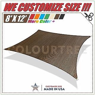 Rectangle Sun Shade Sail Canopy 300D Polyester Oxford 98/% UV Block Durable Outdoor Patio Garden with Free Hardware Kit,7x7ft Sun Shade Sail