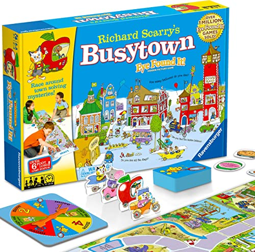 Wonder Forge Richard Scarry's Busytown, Eye Found It Toddler Toy and Game for Boys and Girls Age 3 and Up - A Fun Pre...