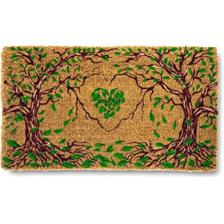 Nook Nook Natural Coir Entrance Doormat (30 x 18) || Thick for Outdoor, Entry, Patio || Waterproof and Easy Clean Front Door Mat with Eco Latex Backing