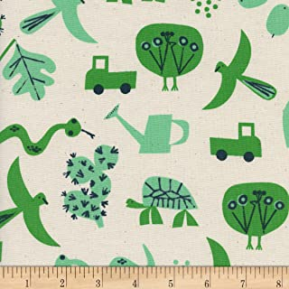 Cotton + Steel Natural Christian Robinson Spectacle Flourish Fabric by The Yard
