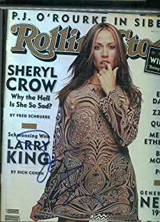 SHERYL CROW sexy signed 11/4/96 Rolling Stone magazine / JSA COA
