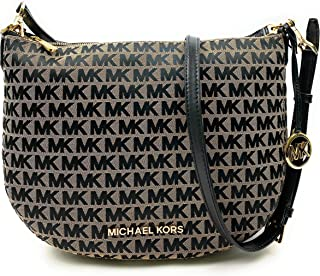 Michael Kors Bedford Medium Convertible Shoulder/Crossbody bag (Beige/Black/Black)