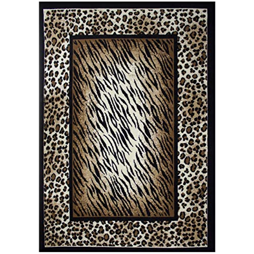 3b700735f83 Rugs 4 Less Collection Leopard Tiger Skin Mix Animal Print Area Rug (5 X7