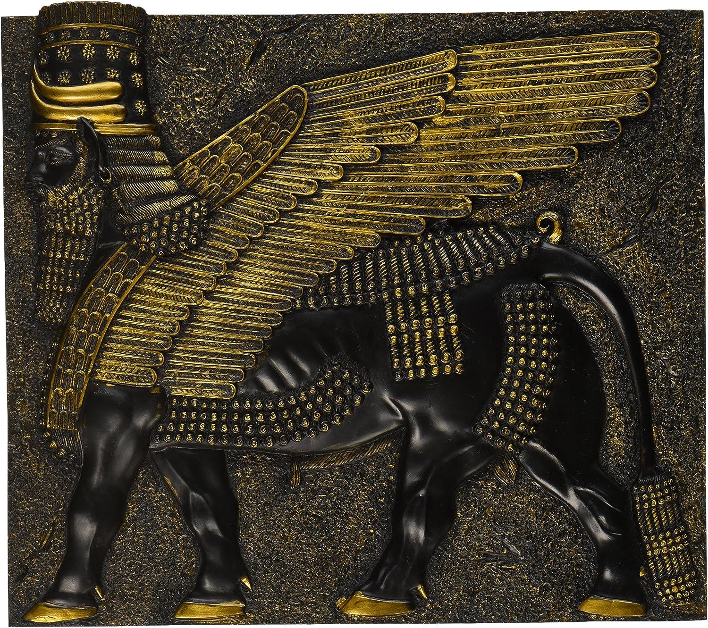 Design Toscano QL13621 Assyrian Winged Bull Wall Sculpture,Black