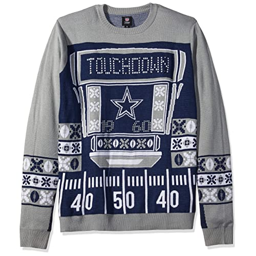 c0db50b7d FOCO NFL Mens Ugly Light Up Crew Neck Sweater