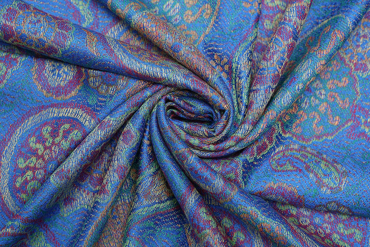 Cashmere Scarves Scarf for Women's Ladies Fashion Tapestry Ethnic Paisley Pattern Blue Tapestry
