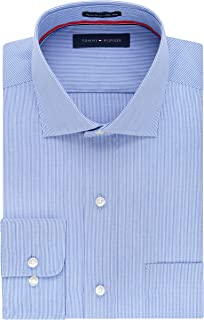 Tommy Hilfiger Men's Regular Fit Non Iron Fine Line Stripe