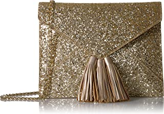Amazon Brand - The Fix Izzi Glitter Envelope Clutch with Chain Crossbody Strap