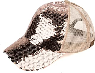 Hats Magic Sequin-Covered Pony Tail Trucker Cap (BT-723)