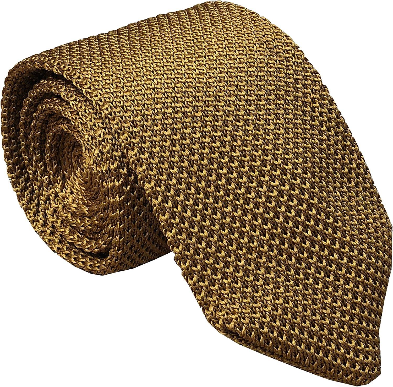 Men's Solid Color Skinny Knit Tie Vintage Smart Formal Wedding Necktie for Groom