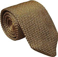 Men`s Solid Color Skinny Knit Tie Vintage Smart Formal Wedding Necktie for Groom