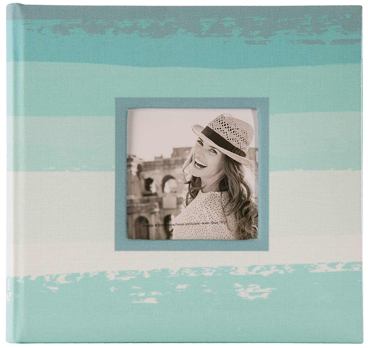 Pinnacle Frames and Accents 2UP Distressed Fabric Framed Front Album, Multi
