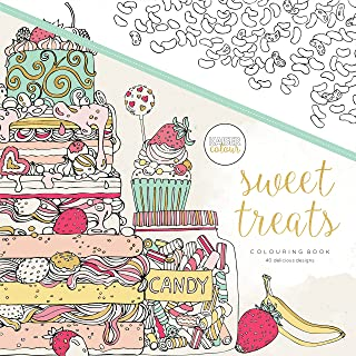 Kaisercraft KaiserColour Perfect Bound Coloring Book-Sweet Treats, Other, Multicoloured, 24.79x24.79x0.6 cm