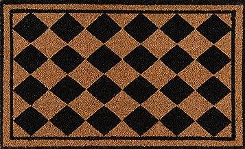 Erin Gates Park Collection Harlequin Hand Woven Natural Coir Doormat 1'6 X 2'6 Black